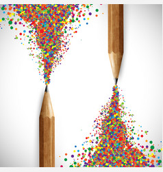 colorful pencil vector image