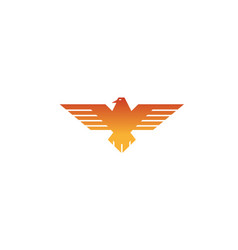 creative geometric eagle logo vector image
