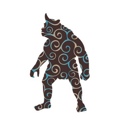 cyclops pattern silhouette monster villain fantasy vector image