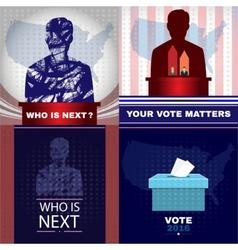 Digital usa presidential election vector image