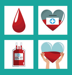 donate blood concept design vector image