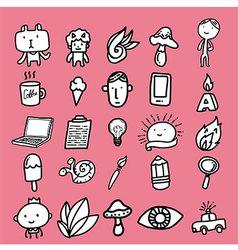 Doodle Cartoon Icon Design vector image