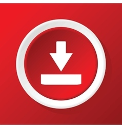 Download icon on red vector