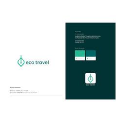 Eco travel logo template design vector