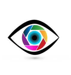 eye colorful iris vector image