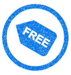 free sticker rounded grainy icon vector image