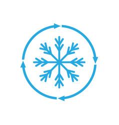 Freezing icon vector