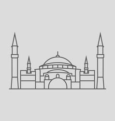 Hagia Sophia vector image