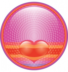 heart internet button vector image