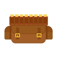 Hunting gun bullets leather bandolier vector