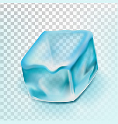 ice cube isolated transpatrent cool glass vector image