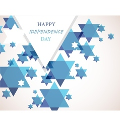 Independence day israel david star background vector