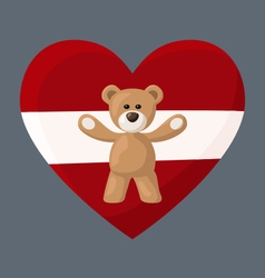 Latvian Teddy Bears vector image
