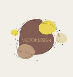 Liquid organic color form vector