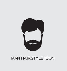 Man hairstyle icon vector