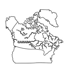 Map of canada canada single icon in outline style vector
