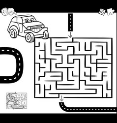 maze or labyrinth for coloring vector image