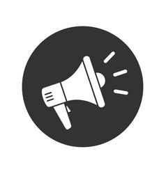 megaphone button vector image