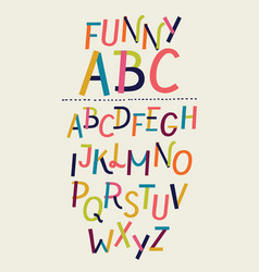 modern paper font and alphabet vector image