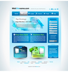 Modern website vector