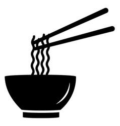 Noodles soup vector