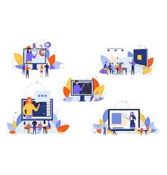 Online education course study seminar training vector
