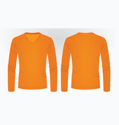 orange long sleeve t shirt vector image
