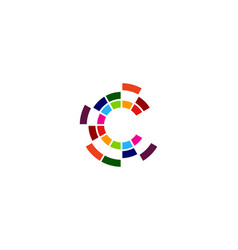 pixel letter c logo icon design vector image