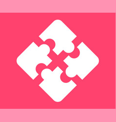 Puzzle icon in flat style vector
