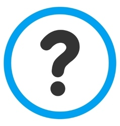 Question Flat Rounded Icon vector