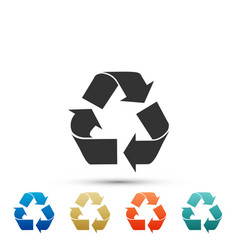 recycle symbol icon isolated on white background vector image