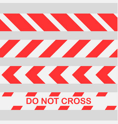 Red warning tape do not cross line caution vector