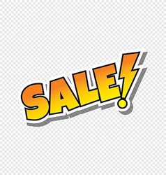 sale cartoon text sticker vector image