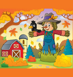 scarecrow theme image 3 vector image