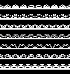 Seamless lace border vector