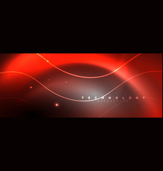 shiny neon lights dark abstract background with vector image