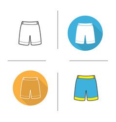 Shorts icon vector