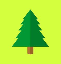 simple christmas tree cartoon vector image