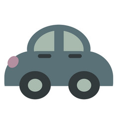 small car on white background vector image