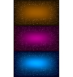 Space background set vector
