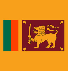 Sri lanka flag flat style vector