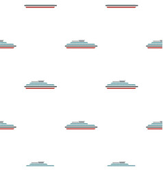 Steamship pattern flat vector