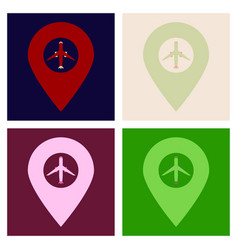 Travel icon on the white background vector
