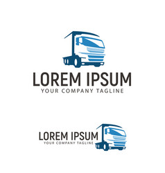 trucking transportation logo design concept vector image