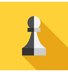 Two-faced traitor pawn vector image