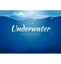 Underwater background in comic book style vector