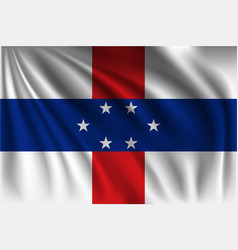 Waving netherlands antilles vector