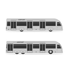 airport bus vector image vector image