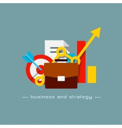 Business and strategy flat concept vector image vector image