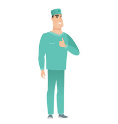 doctor giving thumb up vector image